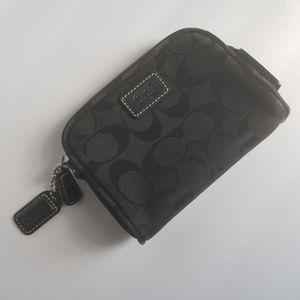 Coach Black Logo Makeup Bag